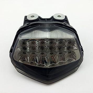 Amazon.com: pacask motocicleta LED Luz trasera Luz de señal ...