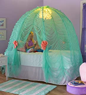 product image for Light-Up Under-The-Sea Bed Tent Imaginative Indoor Play Space Fits Over Twin Mattress and Includes Glittering Sea Urchin Lights