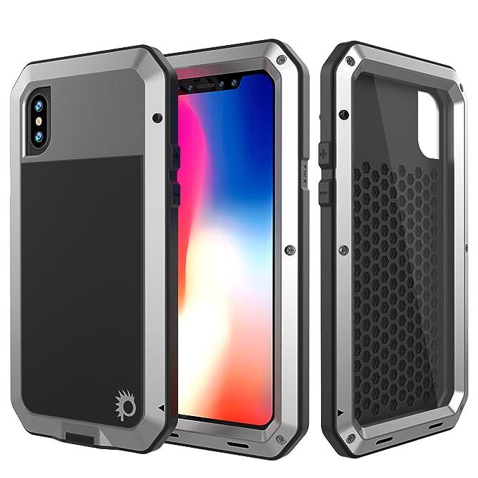 buy popular 0461a 30341 iPhone X Metal Case, Heavy Duty Military Grade Rugged Armor Cover [shock  proof] Hybrid Full Body Hard Aluminum & TPU Design [non slip] W/Prime Drop  ...