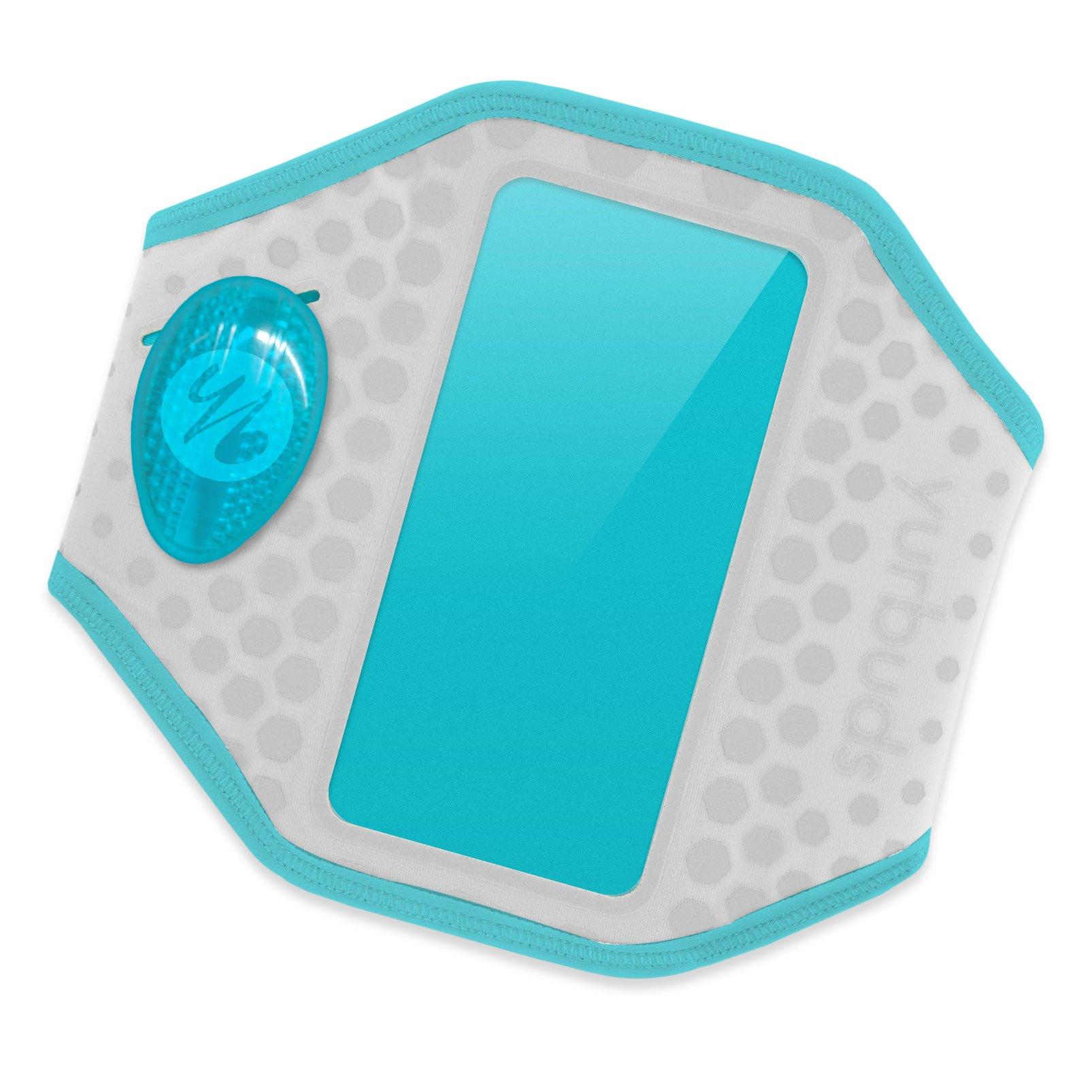 Yurbuds (CE Ergosport LED Armband for Universal Smartphones, Gray/Aqua