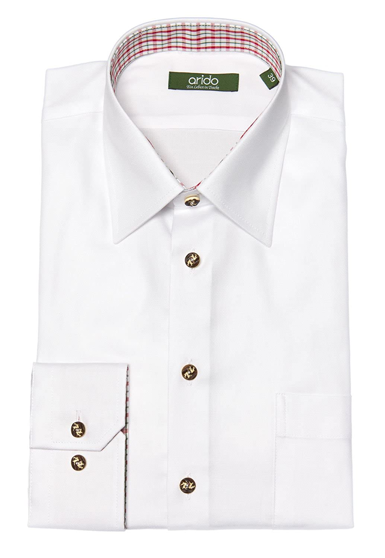 arido Trachtenhemd Herren langarm 2748-1751 weiß 50