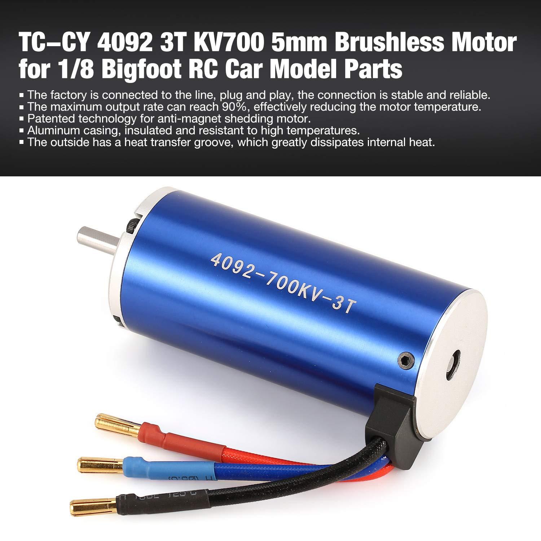 FairytaleMM TC-CY 4092 3T KV700 5mm Sensorless Brushless Motor für 1/8 Bigfoot RC Auto-Modell-Ersatzteile Zubehör Component