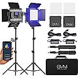 GVM RGB LED Video Light, Photography Lighting with APP Control, 800D Video Lighting Kit for YouTube Studio, 2 Packs Led Panel