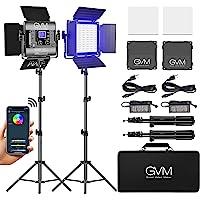 GVM RGB LED Video Light, Photography Lighting with APP Control, 800D Video Lighting Kit for YouTube Studio, 2 Packs Led…