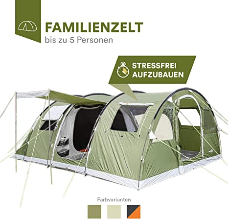 Family Tunnel Tent, Sewn In Groundsheet