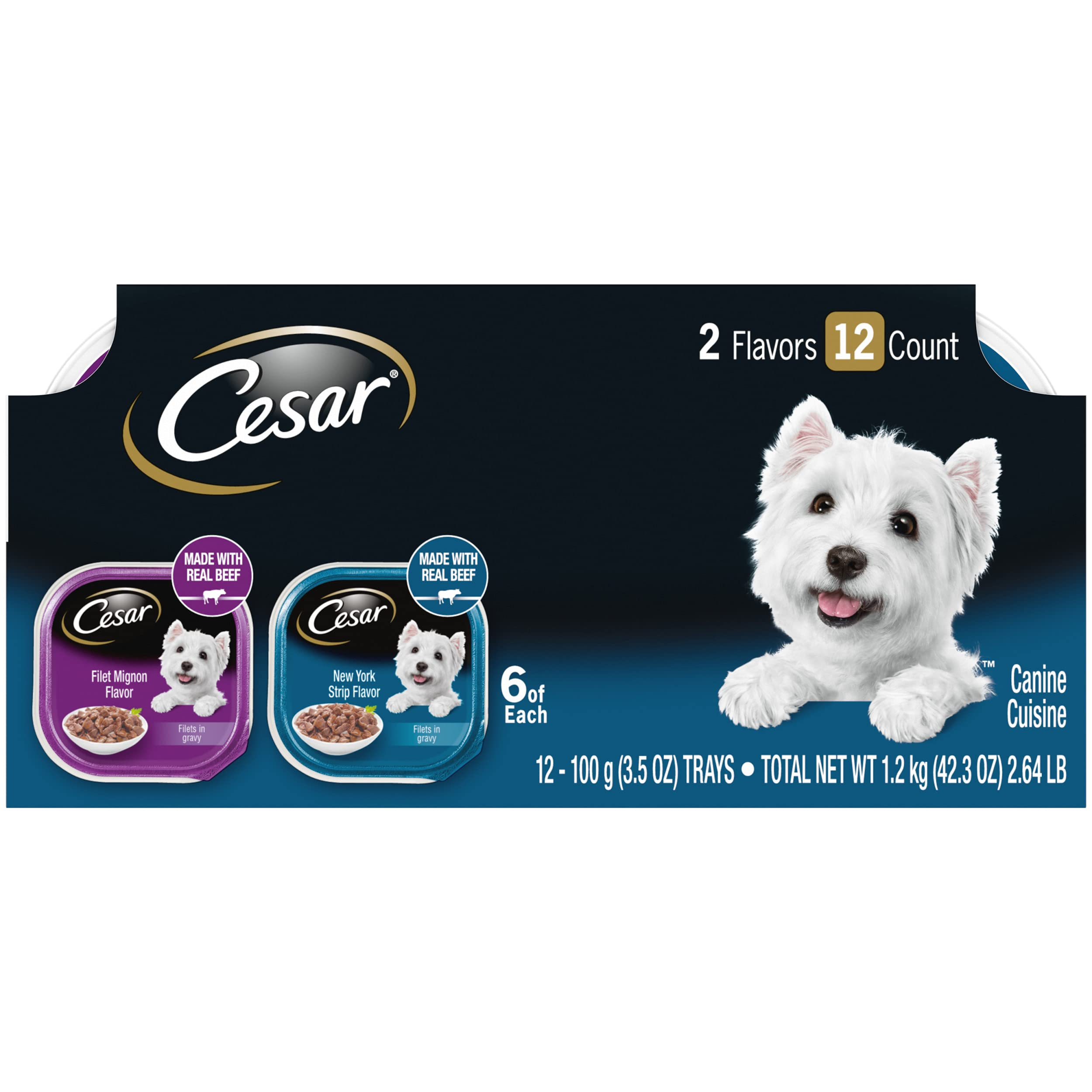 Cesar Gourmet Wet Dog Food, Pack of 12 Trays