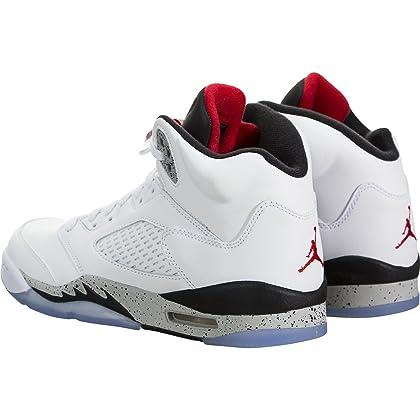 2f220fa644c ... Jordan Air 5 Retro BG White Cement Kids Casual Sneakers - 4 ...