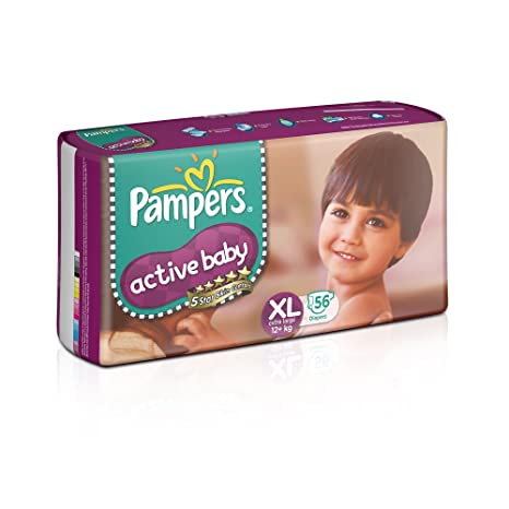 Buy Pampers Active Baby Extra Large Size Diapers 56 Count Online At Low Prices In India