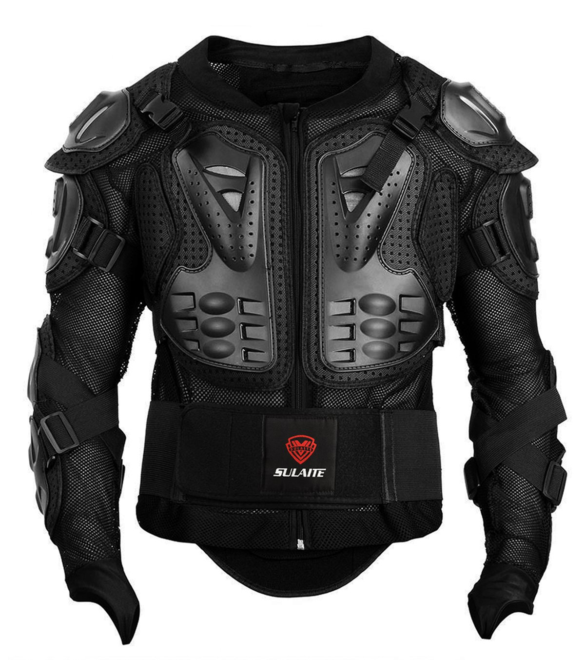 GuTe Motorcycle Protective Jacket,Sport Motocross MTB Racing Full Body Armor Protector for Men (2XL) by Gute