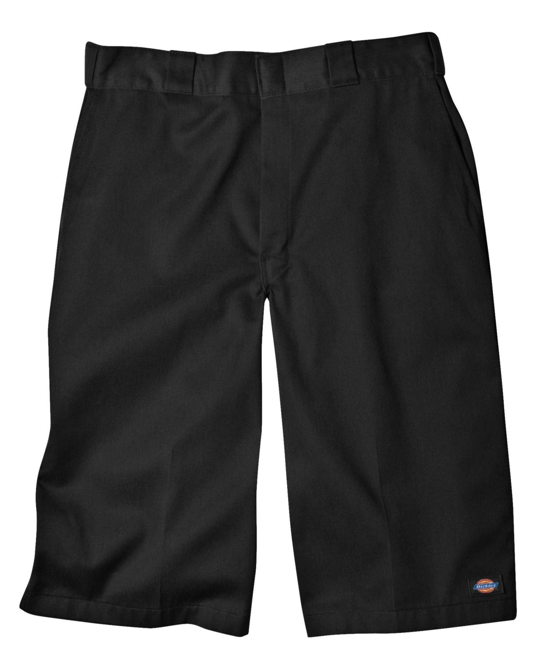 Dickies Men's 15 Inch Inseam Work Short With Multi Use Pocket, Black, 34