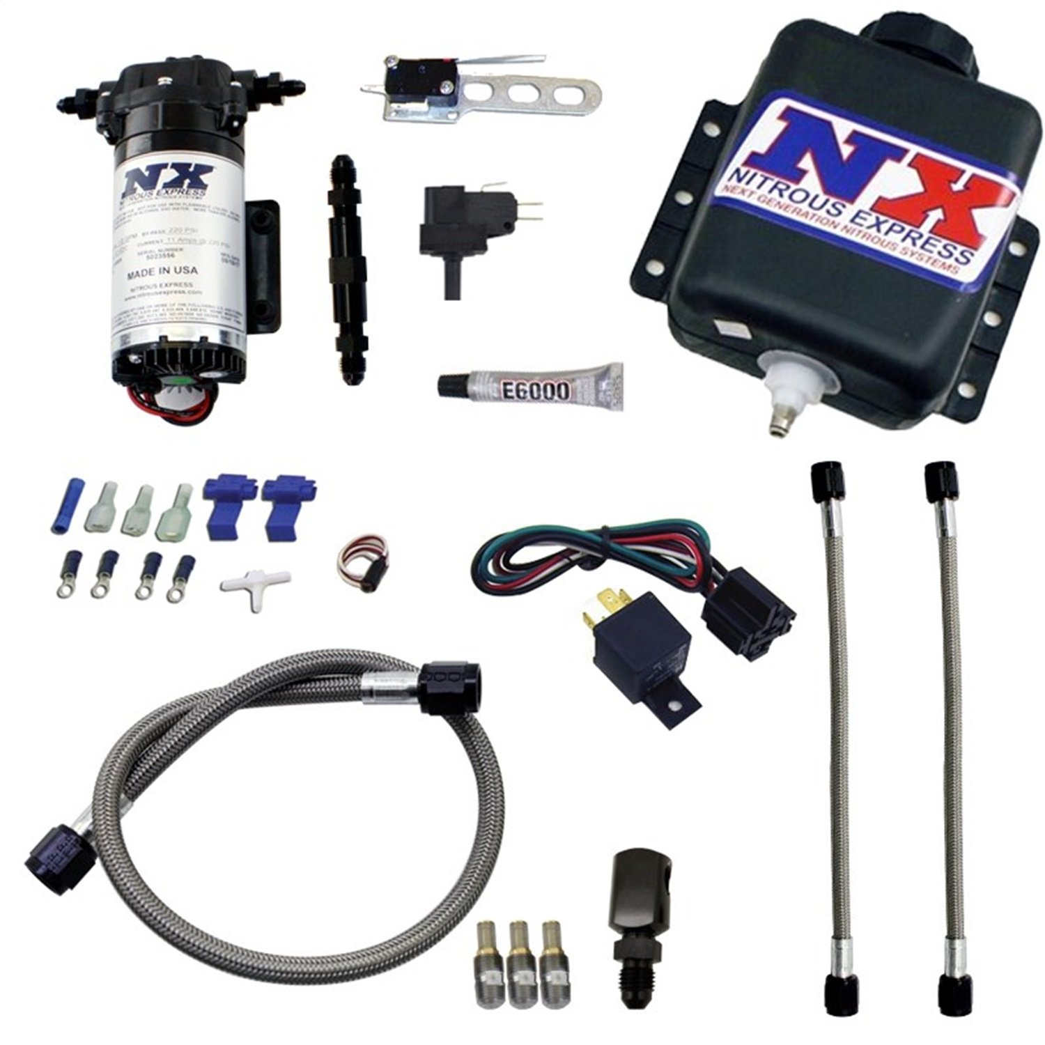 Nitrous Express 15020 Water-Methanol Injection System for Gas Stage 1 Boost Engine