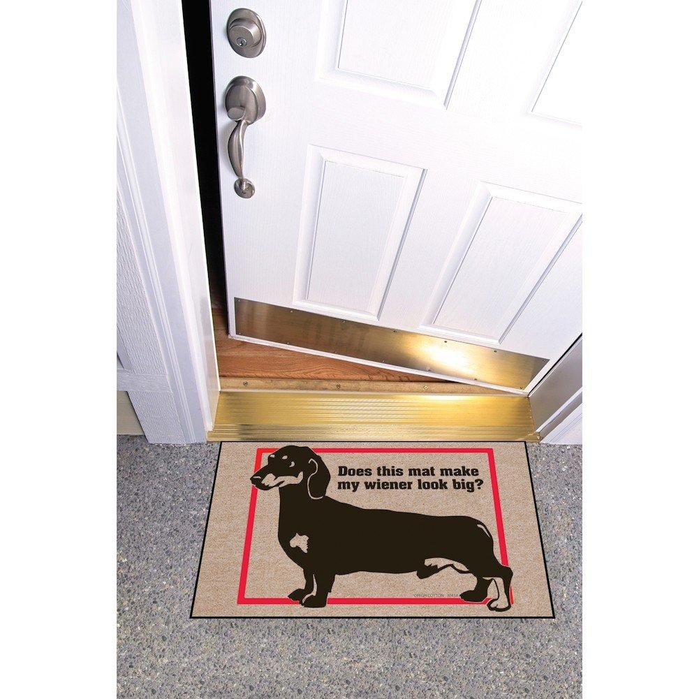 HIGH COTTON Funny Welcome Doormat Does This Mat Make My Wiener Look Big