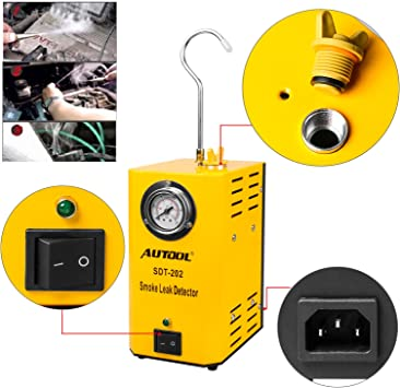 AUTOOL SDT-106 Automotive Fuel Leak Detectors Car Pipe Leakage Tester Cars EVAP Leak Locator Detector Automotive Diagnostic Leak Tools for 12V Vehicles Boats Motorcycles