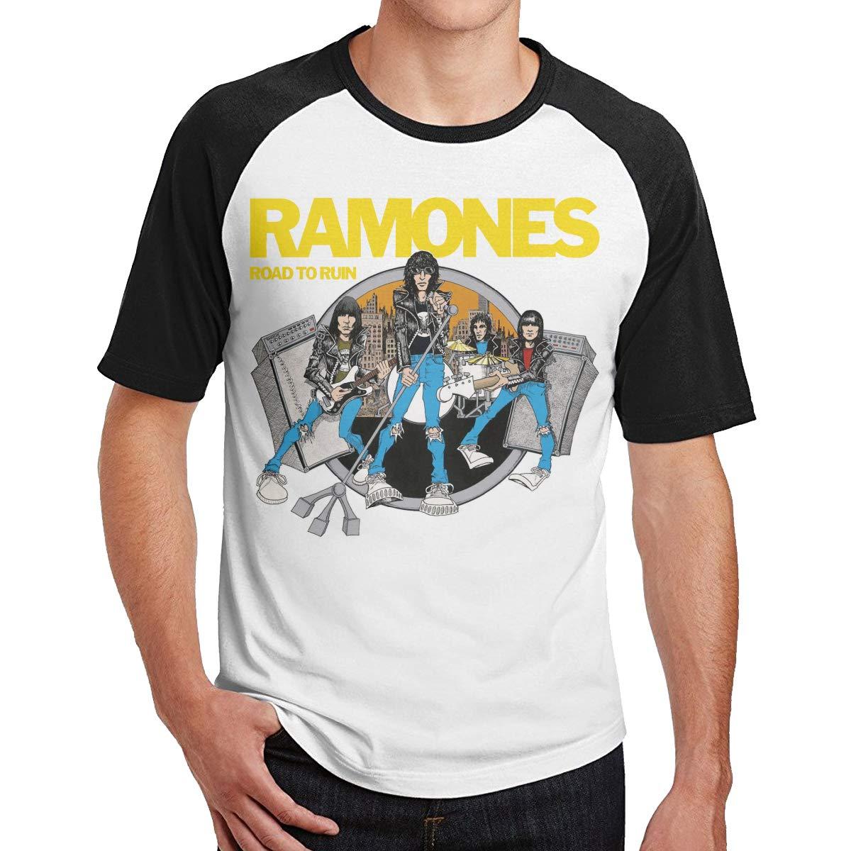 Road to Ruin Music Band Singer Short Sleeve Cool Baseball Shirt Ramones
