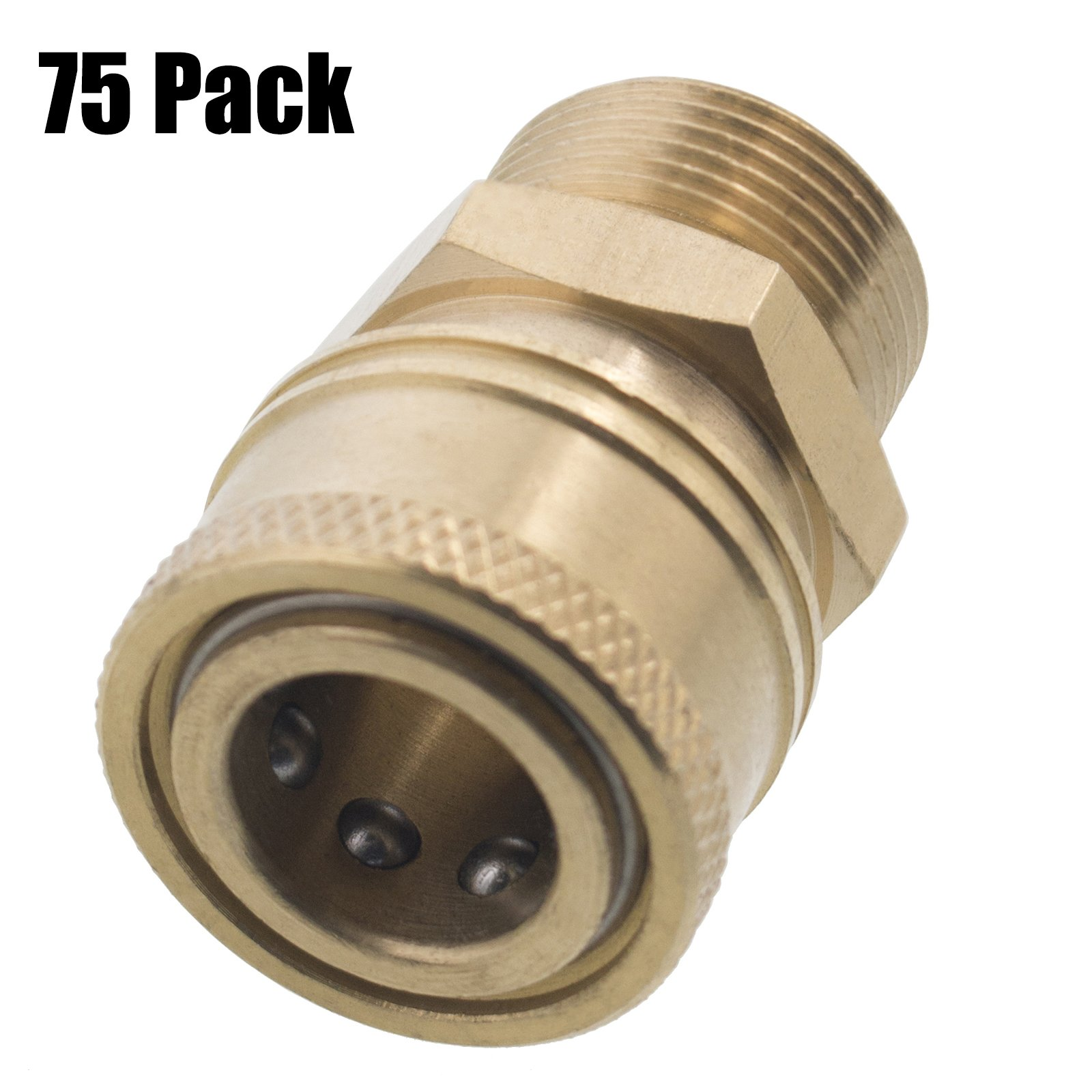 Erie Tools 75 Pressure Washer 3/8 Male NPT to M22 Quick Connect Socket Coupler 14 mm