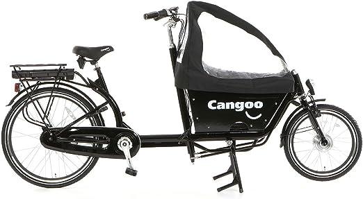 Bicicleta de transporte eléctrica urbana, color negro: Amazon.es: Deportes y aire libre