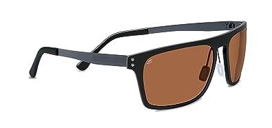d1d65d33ed Amazon.com  Serengeti Sunglasses Ferrara 7894 Satin Black Polarized ...