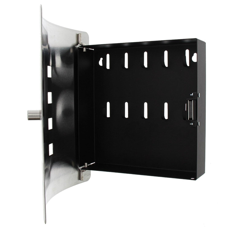 6204//10 Ni Big Ben H/öhe: 240 mm 10 Haken Bedruckte Edelstahlt/ür BURG-W/ÄCHTER Wand-Schl/üsselbox Praktischer Magnetverschluss