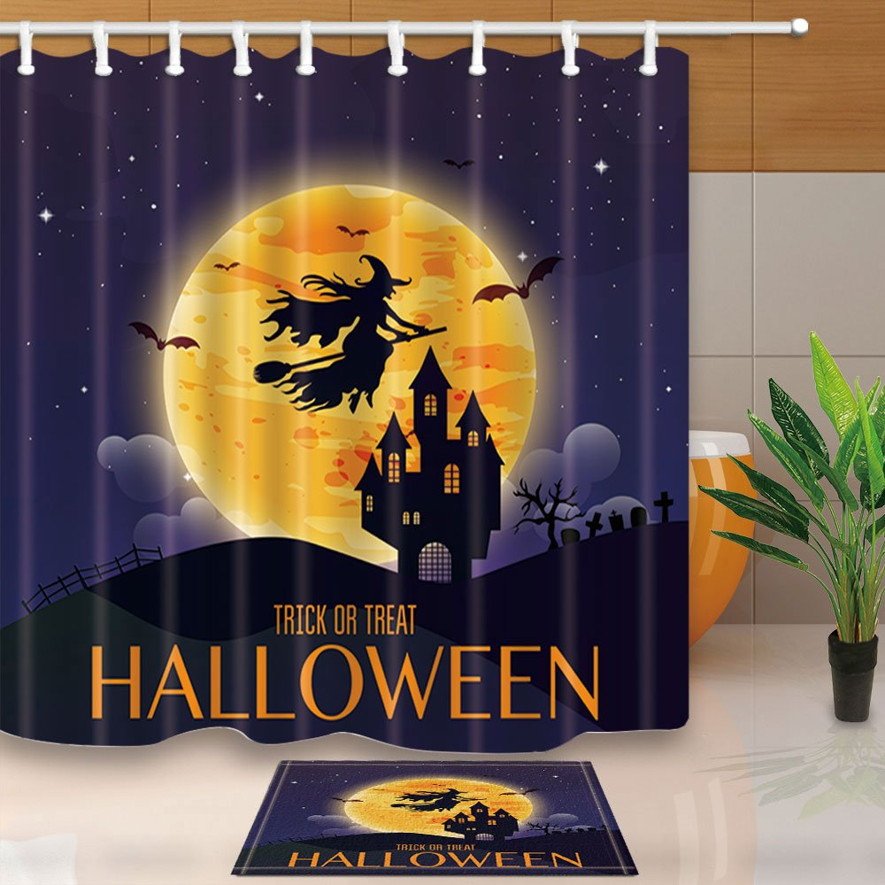 Witches Brew Shower Curtain And Mat Heather Dutton Witch Decorations For Halloween Room Props
