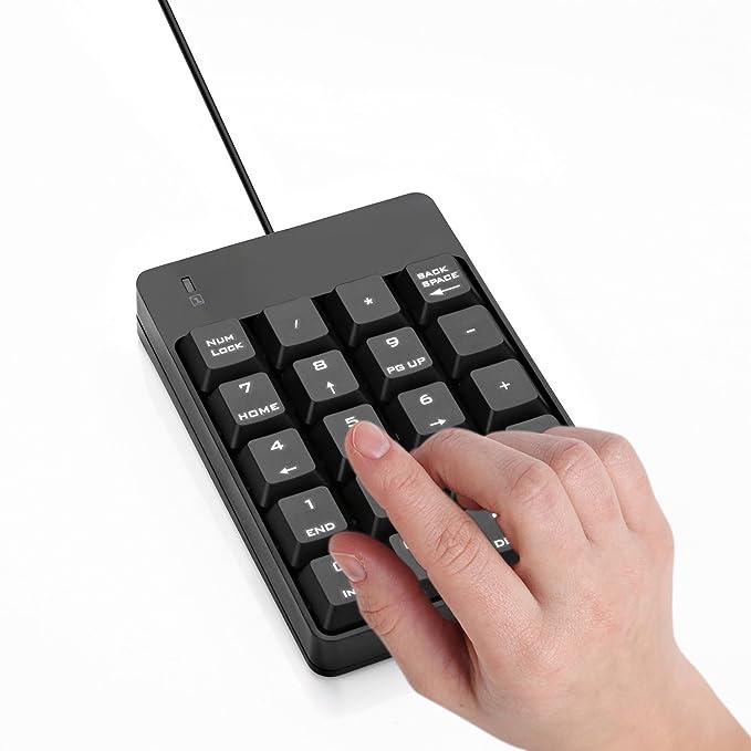 Jelly Comb Teclado Numérico USB con 19 Teclas para Ordenador Portátil/Macbook, Negro.: Amazon.es: Electrónica