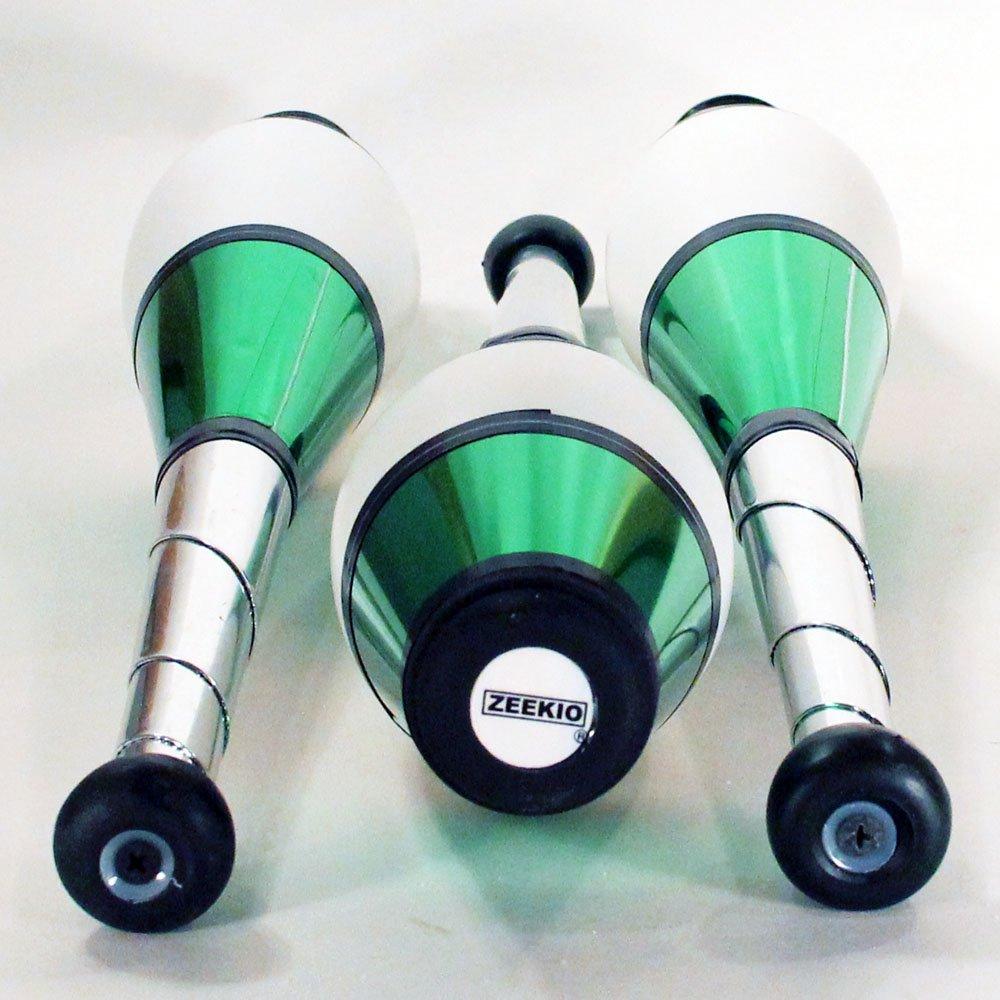Zeekio Pegasus Juggling Clubs - Set of 3 (All Green) by Zeekio
