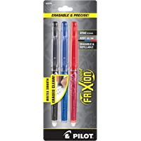 Pilot FriXion Point Erasable Gel Pens Extra Fine Point (.5) 3-pk Black/Blue/Red Inks; Make Mistakes Disappear, No Need For White Out. Smooth Lines to the End of Page, America's #1 Selling Pen Brand