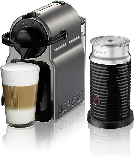 Nespresso Inissia - Máquina espresso de DeLonghi con aeroccino Nespresso by Breville Titan: Amazon.es: Hogar