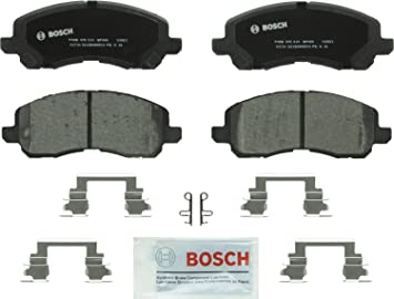Disc Brake Pad Set-Premium Semi-Met Pads with Shim and Hardware Rear,Front