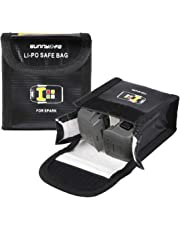 Hobby-Ace 2Pcs Lipo Battery Safe Bag for DJI Mavic Pro Battery Safety Guard Protector Storage and Travel Bag Fire Resistant Explosion-Proof with Compartment
