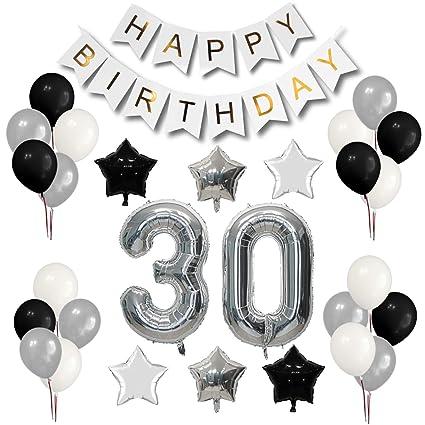 Juego de decoración para fiesta de cumpleaños número 30 ...
