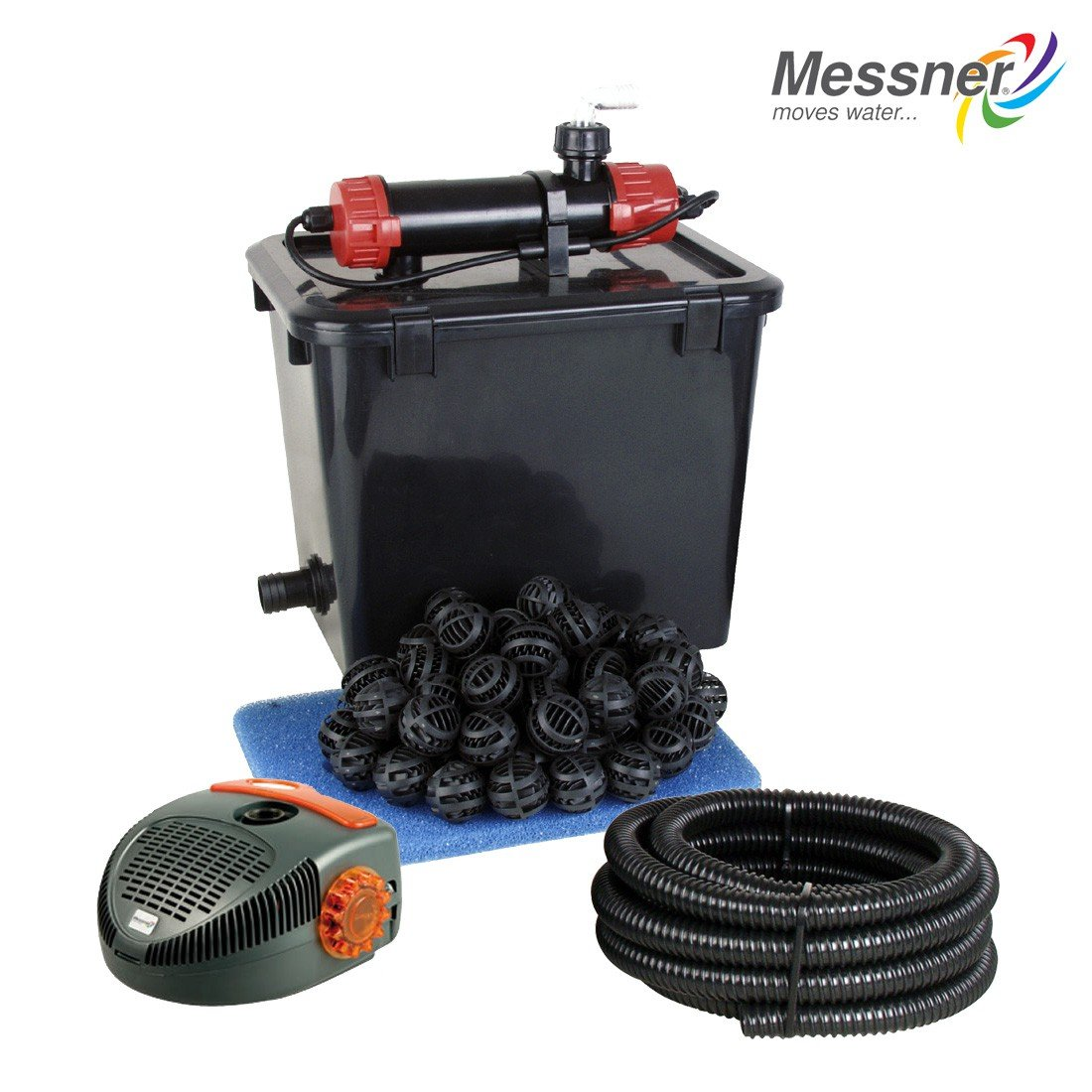 Messner Teichfilter - Set HAPPY POND Quick-Clean 5000 (Komplett)