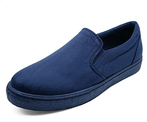 Mujer Plano Marino Azul Informal Planas Zapatillas Sin Cordones rRarxpqE