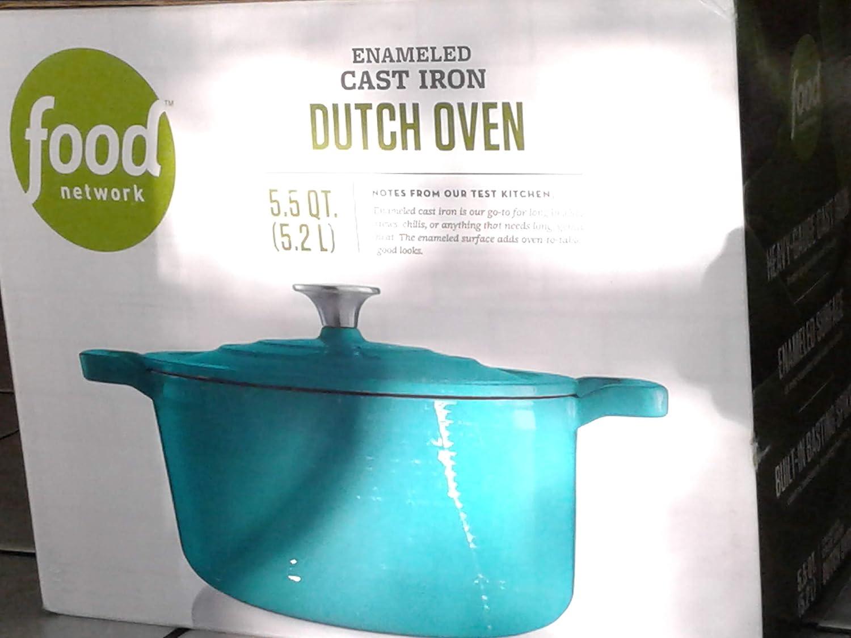 Food Network 5 1/2 Quart Enamel Cast Iron Dutch Oven
