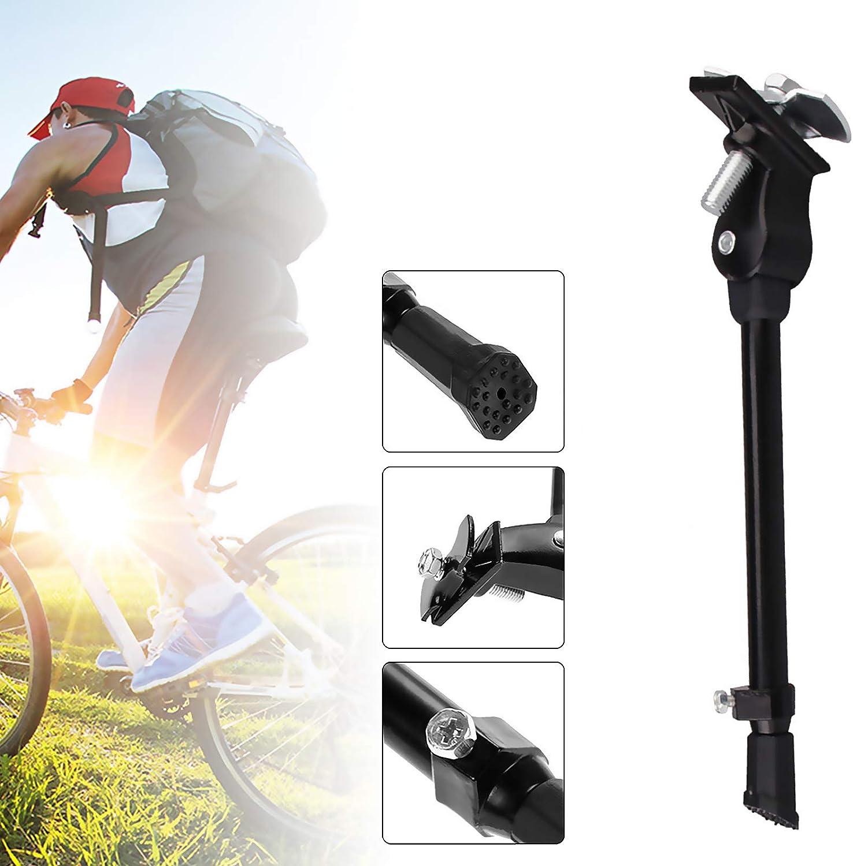 Rennrad schwarz Klapprad XunHe Fahrradst/änder Aluminiumlegierung Fahrrad Seitenst/änder Faltbarer Einstellbarer Universal Fahrrad St/änder Rutschfester Gummist/ände f/ür 24-27 Zoll Mountainbike