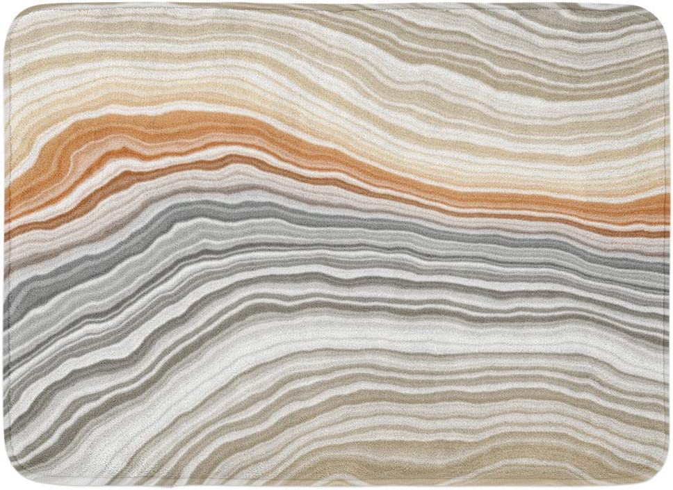 Liminiaos Doormats Bath Rugs Outdoor Indoor Door Mat Orange Marble Wide Onyx Slice Beige Stone Agate N E Streaky Bathroom Decor Rug Bath Mat Amazon Co Uk Kitchen Home