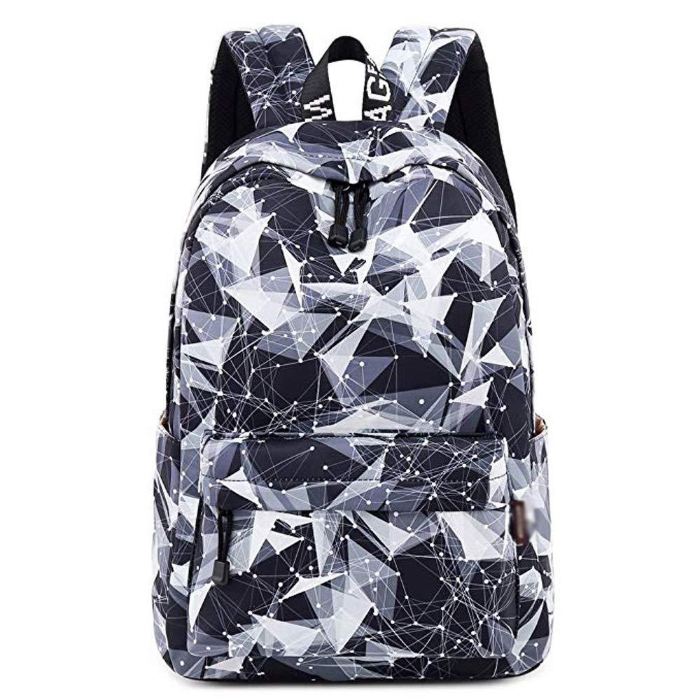 Rucksack - vielseitige minimalistische Student Bag, High School Student Tasche, langlebige Leinwand große Kapazität Freizeittasche (Farbe   A, größe   30.5x13.5x42.5cm)