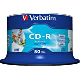 Verbatim CD-R Wide Printable Surface 52x 700MB CD-Rohlinge 50er Spindel