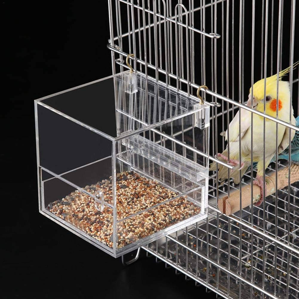 Caged Bird Bath Bird Cage Parrot Supplies Bathing Tub Feeders,for Small Brids Canary Budgerigar Cockatiel Lovebird Bathtub Thick Food Grade Material Easy to Install by Wustrious