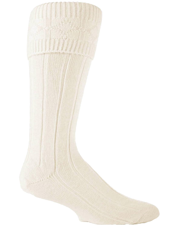 Mens Cream Wool Blend Kilt Wedding Hogmany Socks SSSOCKS