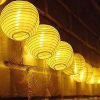 TR Turn Raise 4.8 Metros 20 LED Guirnaldas de Luces Farolillos Solares Exterior Impermeable para Decoración Jardines…