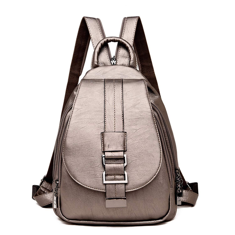 03af57d301fd Amazon.com: 2019 Women Leather Backpacks Vintage Female Shoulder Bag ...
