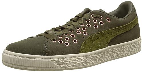 Puma Vikky scarpe da ginnastica da donna verde oliva sport ginnastica