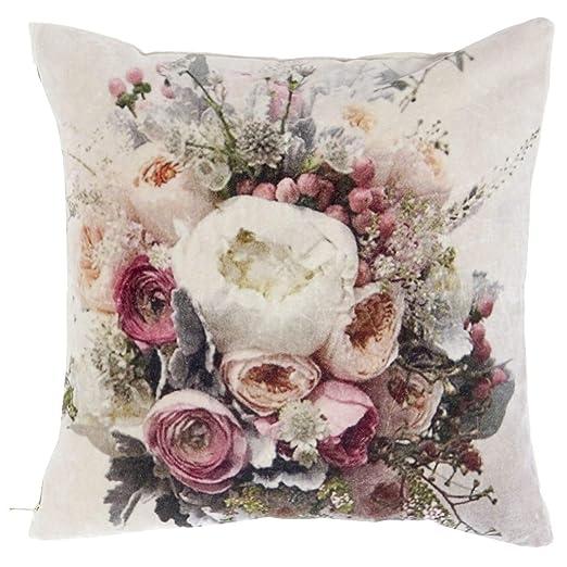Item Internacional Cojín de Flores de algodón 45x45 cm ...