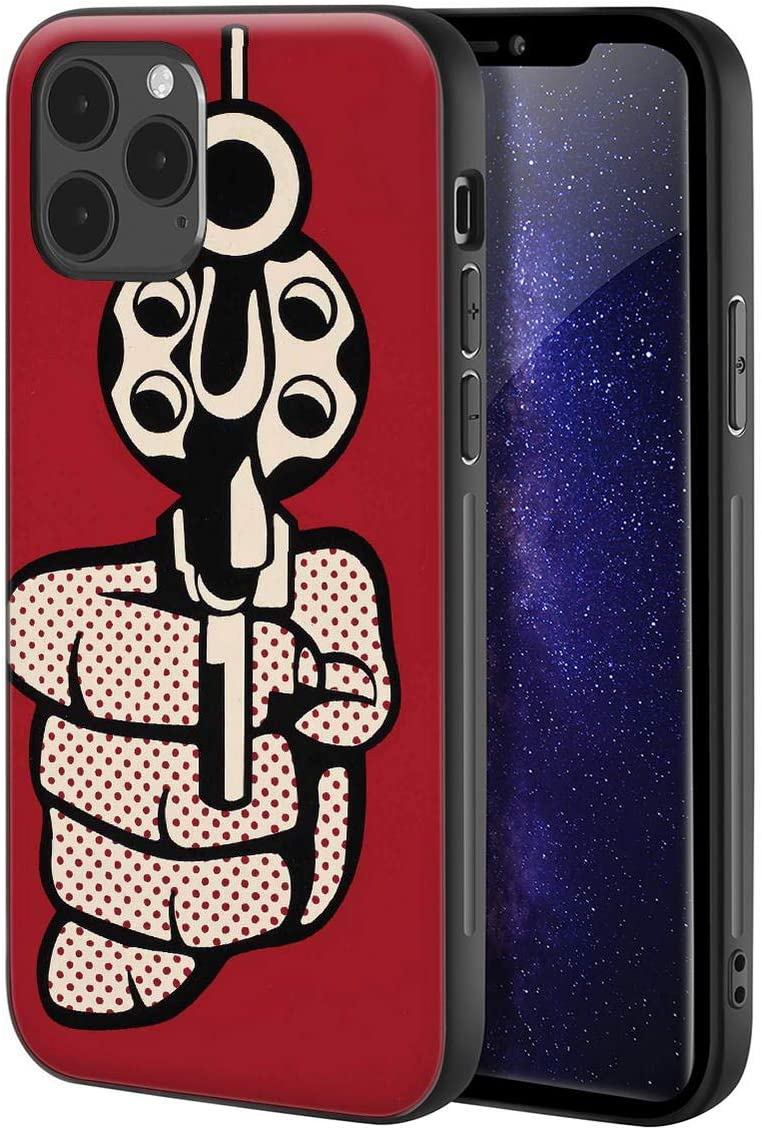 Roy Lichtenstein for iPhone 12 Pro Max Case/Art Cellphone Case/Giclee UV Reproduction Print on Mobile Phone Cover(Pistol)
