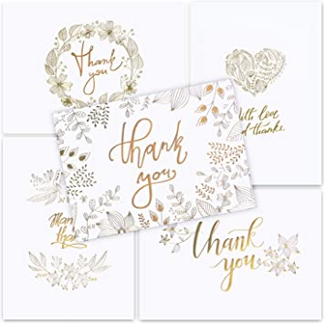 50 Envelopes Large 4 x 6 48 Blank Cards Stationery perfect for Wedding /& Baby Shower thank you notes. Thank You Cards
