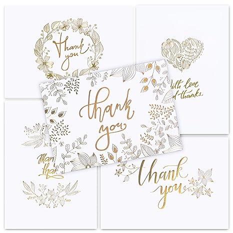 Amazon.com: 50 tarjetas de agradecimiento con sobres – Mate ...