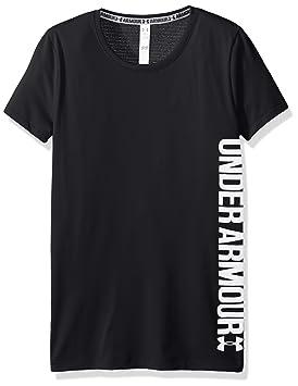 Under Armour Short Sleeve Camisa de Manga Corta, niñas, Negro, YXS
