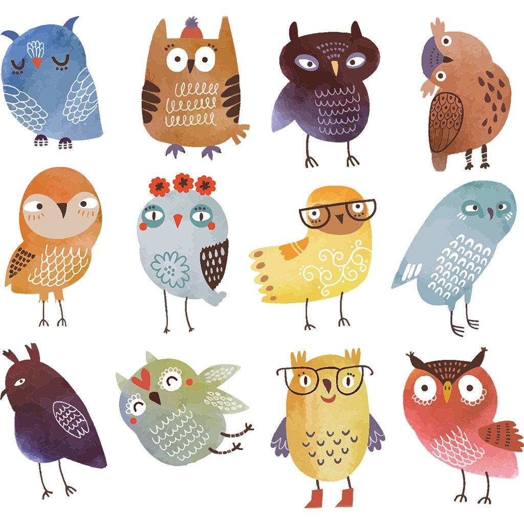 Patches For Kids Clothes, Lovely Catoon Owl Patch DIY Accessory A-level Washable Heat Transfer Iron-on Stickers Appliques Logres