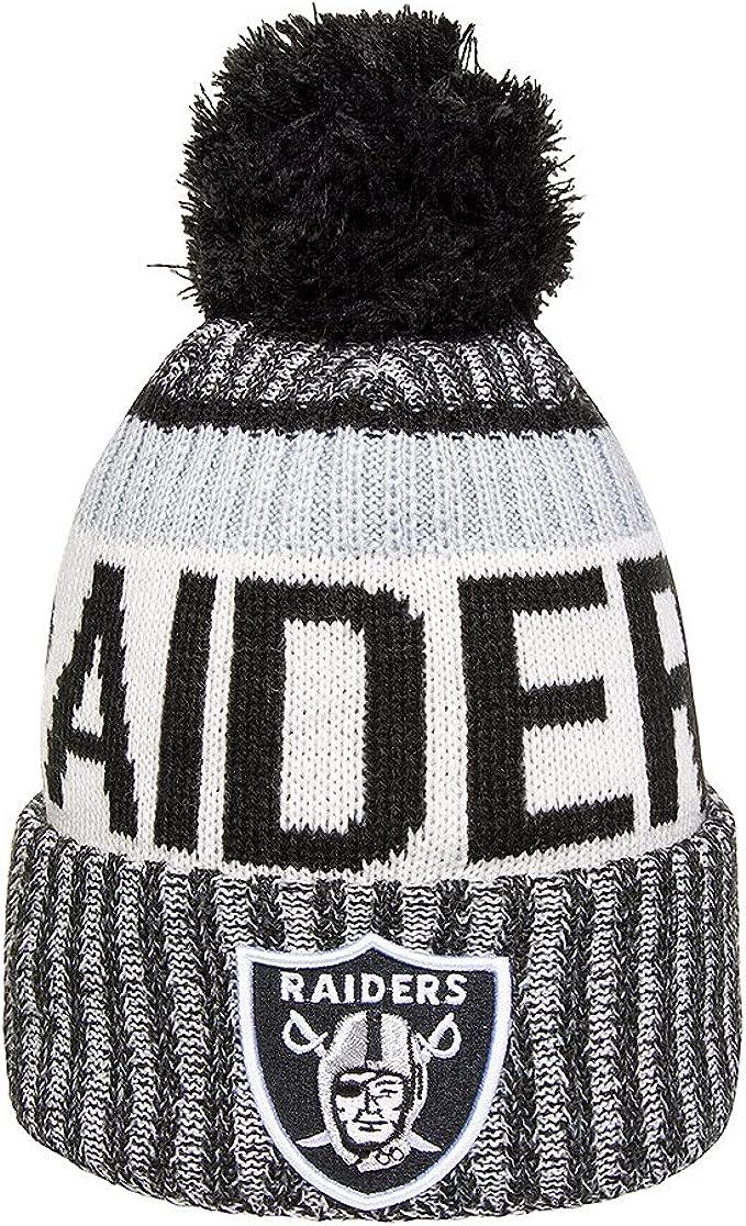 New Era Mens Oakland Raiders 2016 Sideline Sport Knit Hat