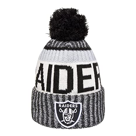 Amazon.com   New Era Knit Oakland Raiders Silver On Field Sideline ... d53b7bd5260